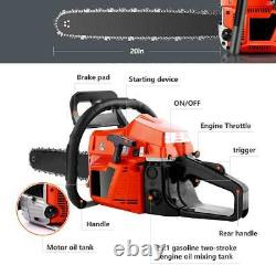 20 Inch Guide Board Chainsaw Gasoline Powered Handheld Chain Saw 58CC 2021