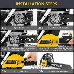 3.5HP Guide Board Chainsaw Gasoline Powered Handheld Chain Saw 62CC Engine 2Cycl