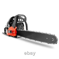 3.5HP Guide Board Chainsaw Gasoline Powered Handheld Chain Saw 62CC Engine NEW@#