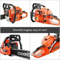 62CC 3.5HP Guide Board Chainsaw Gasoline Powered Handheld Chain Saw Stroke/
