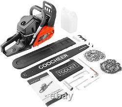 COOCHEER 58CC 4HP Guide Board Chainsaw Gasoline Powered Handheld Cordless Petrol