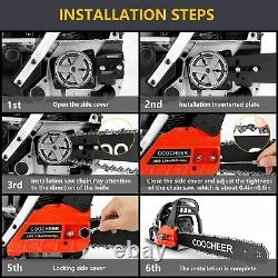 COOCHEER Guide Board Chainsaw Gasoline Powered Handheld Cordless Petrol Red RU