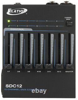 Elation SDC12 Battery Powered Portable Handheld Dmx 12-Channel Controller New