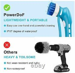 Electric Spin Scrubber Power Scrub Brush Cordless Tile Kitchen Cleaning Handheld