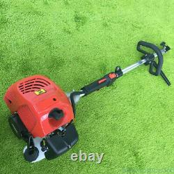 GAS POWER HAND HELD SWEEPER BROOM CLEANING DRIVEWAY TURF GRASS WALK BEHIND 52cc