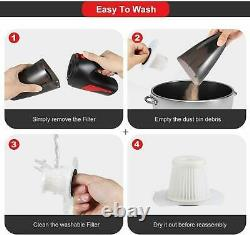 High Suction Power Portable Cordless Hand Held Vacume Cleaner Pet Car Home Ofice