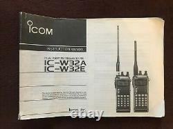 Icom Ic-W32A Handheld Transceiver, new battery, power adapter/charger and Manual