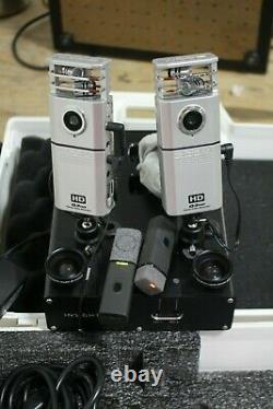 LOT OF 2 Insight Zoom Q3HD Handy Video Recorder Camcorder With Dock and Mics