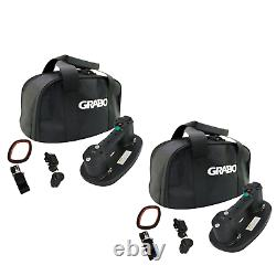 New! Grabo TWIN PACK Plus Cordless Battery Powered Vacuum Suction Pad Lifter