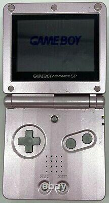 Nintendo GameBoy Advance SP Pearl Pink Console Handheld AGS-101 with Power Charger