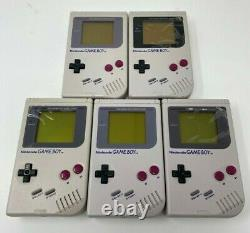 Nintendo Game Boy Handheld Systems Lot of 5 Dead Pixels All Power On Read