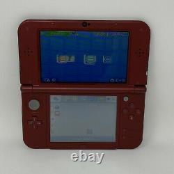 Nintendo'New' 3DS XL Handheld System Red w 4 Games, Power Adapter, 3 Stylus