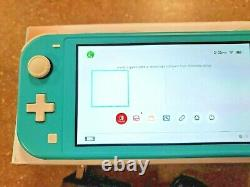 Nintendo Switch Lite HDH-001 Handheld Gaming Console Turquoise with Power supply