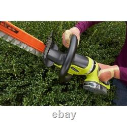 RYOBI 18 Volt 22 inch Hand Held Cordless Electric Hedge Trimmer Battery Powered