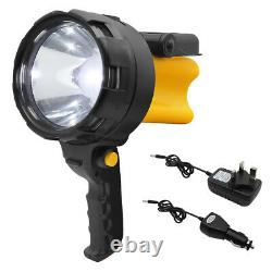 Rechargeable 3W LED Work Light Torch 3 Million Candle Power Spotlight Hand Lamp