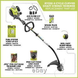Ryobi String Trimmer Gas Curved Shaft Attachment Capable Increased Power 4 Cycle