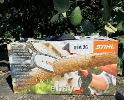 STIHL GTA 26 Handheld Pruner Chainsaw Battery Powered withcarry case & 2chains