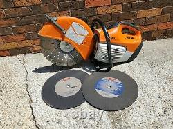 STIHL TS420 GAS POWERED HAND HELD CONCRETE CUT OFF SAW WithBLADE