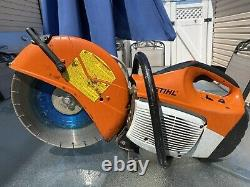 STIHL TS420 GAS POWER 14 QUICKCUT HAND HELD CONCRETE CUT OFF SAW 67CC With BLADES