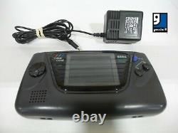 Sega Game Gear Handheld Console Black with Power Cord and 2 Games TESTED