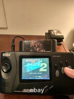 Sega Nomad handheld game system WORKS 5 Games and AC power cord included