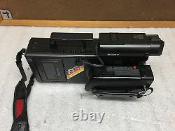 Sony CCD-V8AFu 8mm Video 8 Camera Recorder with Accessories POWER TESTED Good
