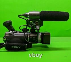 Sony Professional HD Handheld Camcorder HVR-A1U with Cables Power Adapter