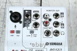 Yamaha AG03 3 Channel Mixer with USB Audio Interface Streaming and Webcasting