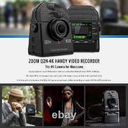 Zoom Q2n-4K Handy Digital Multitrack Video Recorder with 32GB Deluxe Accessory
